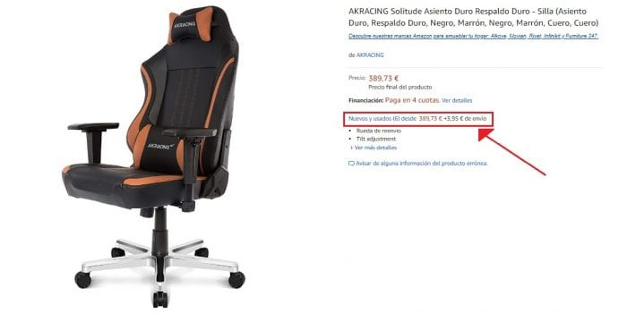 Silla Gamer AKRacing Solitude segunda mano