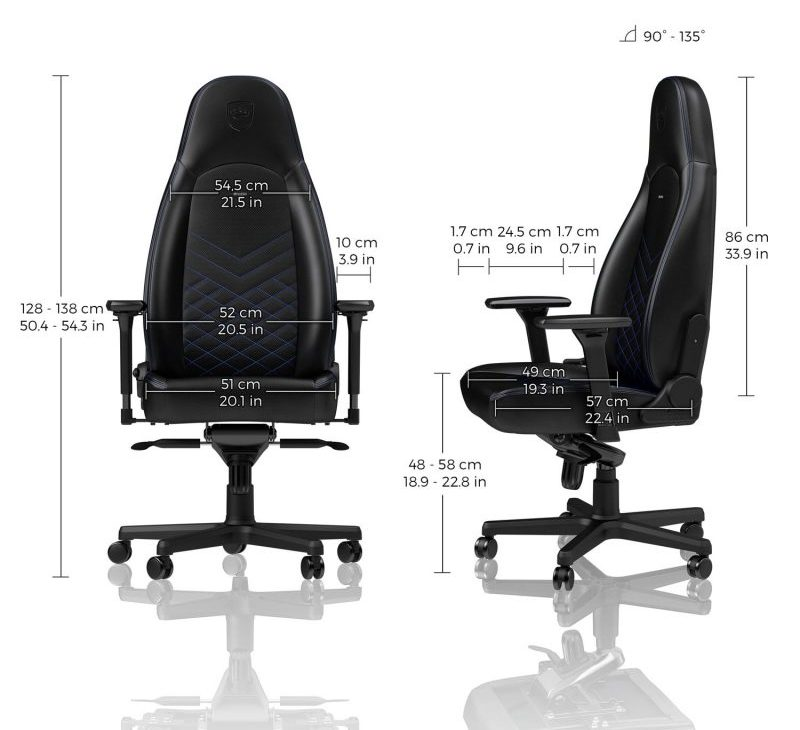 noblechairs Icon medidas