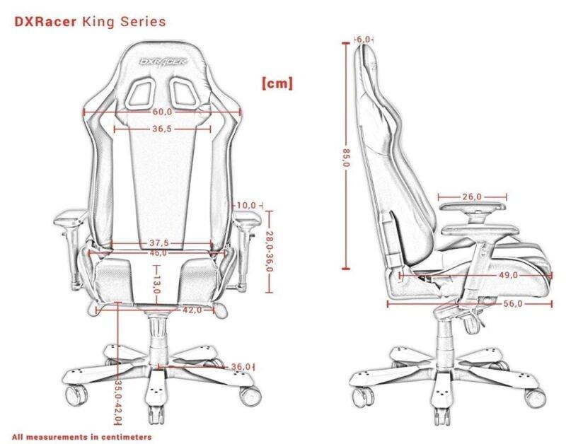Dxracer King K06 medidas